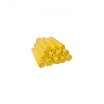 Geltoni maišeliai šiukšlėms, 60L, R10vnt.