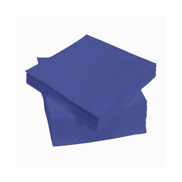 Mėlynos stalo servetėlės 24 x 24, 400 vnt.
