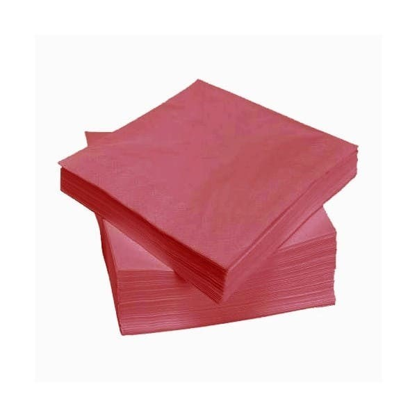 Raudonos stalo servetėlės 24 x 24, 400 vnt.