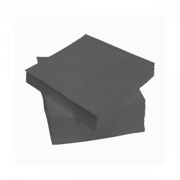 Juodos stalo servetėlės 24 x 24, 400 vnt.