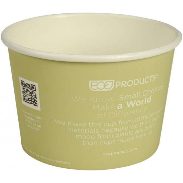 Indelis World Art, Green, PLA / Pap, 16oz / 470ml, 25vnt