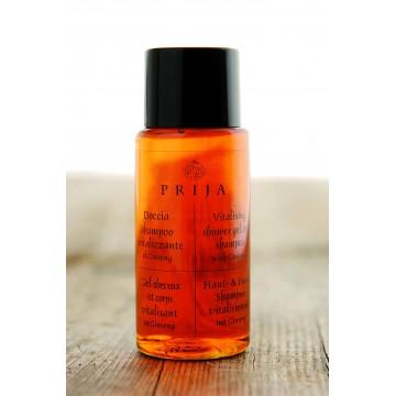 PRIJA Gaivinantis dušo gelis ir  šampūnas su ženšeniu, viename, 40 ml
