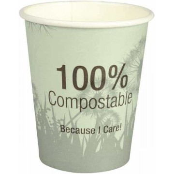 Coffee cup and lid, compostable