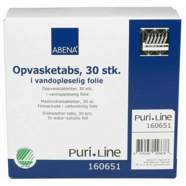 Ekolog. indaplovių tabletės ABENA 4 in 1, neutral 30 vnt.