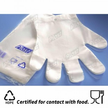 100 Disposable Plastic Gloves Polythene