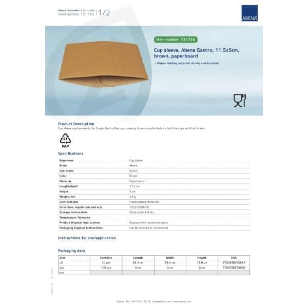 Puodelių įmautės 240/330 ml, 100 vnt, ABENA