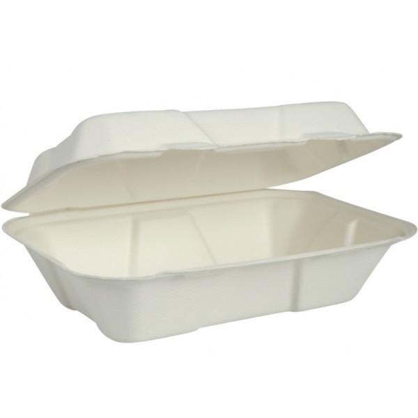 Dėžutė maistui cukranendrių Gastro-Line, balta, 50 vnt, Abena